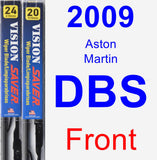 Front Wiper Blade Pack for 2009 Aston Martin DBS - Vision Saver