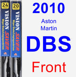 Front Wiper Blade Pack for 2010 Aston Martin DBS - Vision Saver