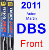 Front Wiper Blade Pack for 2011 Aston Martin DBS - Vision Saver