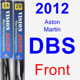 Front Wiper Blade Pack for 2012 Aston Martin DBS - Vision Saver