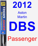 Passenger Wiper Blade for 2012 Aston Martin DBS - Vision Saver