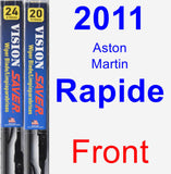 Front Wiper Blade Pack for 2011 Aston Martin Rapide - Vision Saver