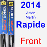 Front Wiper Blade Pack for 2014 Aston Martin Rapide - Vision Saver