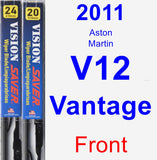 Front Wiper Blade Pack for 2011 Aston Martin V12 Vantage - Vision Saver