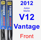 Front Wiper Blade Pack for 2012 Aston Martin V12 Vantage - Vision Saver