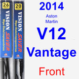 Front Wiper Blade Pack for 2014 Aston Martin V12 Vantage - Vision Saver