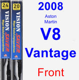 Front Wiper Blade Pack for 2008 Aston Martin V8 Vantage - Vision Saver