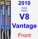 Front Wiper Blade Pack for 2010 Aston Martin V8 Vantage - Vision Saver