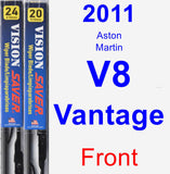Front Wiper Blade Pack for 2011 Aston Martin V8 Vantage - Vision Saver