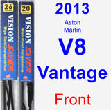 Front Wiper Blade Pack for 2013 Aston Martin V8 Vantage - Vision Saver