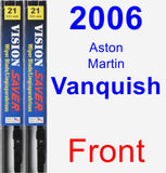 Front Wiper Blade Pack for 2006 Aston Martin Vanquish - Vision Saver