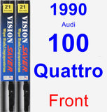 Front Wiper Blade Pack for 1990 Audi 100 Quattro - Vision Saver