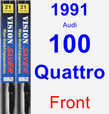 Front Wiper Blade Pack for 1991 Audi 100 Quattro - Vision Saver