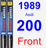 Front Wiper Blade Pack for 1989 Audi 200 - Vision Saver