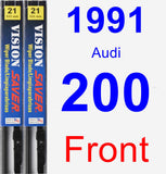 Front Wiper Blade Pack for 1991 Audi 200 - Vision Saver