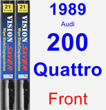Front Wiper Blade Pack for 1989 Audi 200 Quattro - Vision Saver
