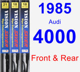 Front & Rear Wiper Blade Pack for 1985 Audi 4000 - Vision Saver