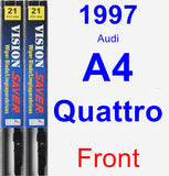 Front Wiper Blade Pack for 1997 Audi A4 Quattro - Vision Saver