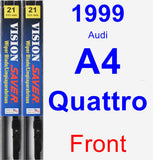 Front Wiper Blade Pack for 1999 Audi A4 Quattro - Vision Saver