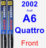 Front Wiper Blade Pack for 2002 Audi A6 Quattro - Vision Saver