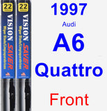 Front Wiper Blade Pack for 1997 Audi A6 Quattro - Vision Saver