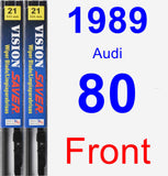 Front Wiper Blade Pack for 1989 Audi 80 - Vision Saver
