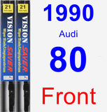 Front Wiper Blade Pack for 1990 Audi 80 - Vision Saver