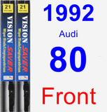 Front Wiper Blade Pack for 1992 Audi 80 - Vision Saver