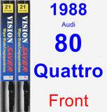 Front Wiper Blade Pack for 1988 Audi 80 Quattro - Vision Saver