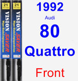 Front Wiper Blade Pack for 1992 Audi 80 Quattro - Vision Saver