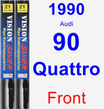 Front Wiper Blade Pack for 1990 Audi 90 Quattro - Vision Saver