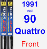 Front Wiper Blade Pack for 1991 Audi 90 Quattro - Vision Saver