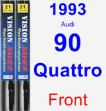 Front Wiper Blade Pack for 1993 Audi 90 Quattro - Vision Saver