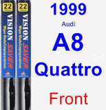 Front Wiper Blade Pack for 1999 Audi A8 Quattro - Vision Saver