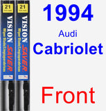Front Wiper Blade Pack for 1994 Audi Cabriolet - Vision Saver