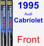 Front Wiper Blade Pack for 1995 Audi Cabriolet - Vision Saver