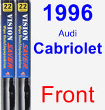 Front Wiper Blade Pack for 1996 Audi Cabriolet - Vision Saver