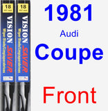 Front Wiper Blade Pack for 1981 Audi Coupe - Vision Saver