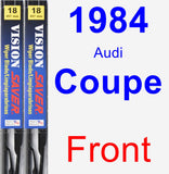 Front Wiper Blade Pack for 1984 Audi Coupe - Vision Saver