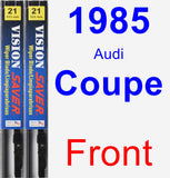 Front Wiper Blade Pack for 1985 Audi Coupe - Vision Saver