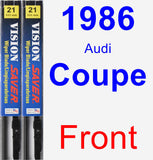 Front Wiper Blade Pack for 1986 Audi Coupe - Vision Saver