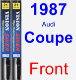 Front Wiper Blade Pack for 1987 Audi Coupe - Vision Saver
