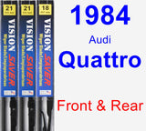 Front & Rear Wiper Blade Pack for 1984 Audi Quattro - Vision Saver