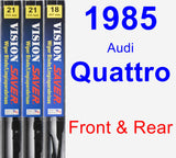 Front & Rear Wiper Blade Pack for 1985 Audi Quattro - Vision Saver