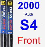 Front Wiper Blade Pack for 2000 Audi S4 - Vision Saver