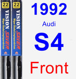 Front Wiper Blade Pack for 1992 Audi S4 - Vision Saver
