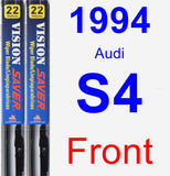 Front Wiper Blade Pack for 1994 Audi S4 - Vision Saver