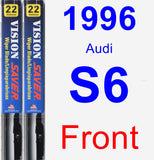 Front Wiper Blade Pack for 1996 Audi S6 - Vision Saver