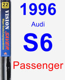 Passenger Wiper Blade for 1996 Audi S6 - Vision Saver