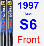 Front Wiper Blade Pack for 1997 Audi S6 - Vision Saver